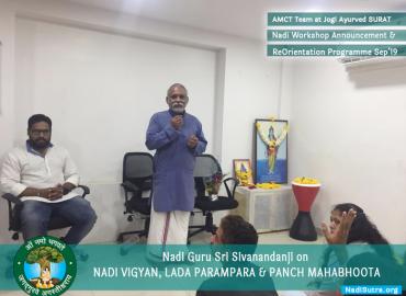 Nadi Re-Orientation Program at Jogi Ayurved Surat 2019