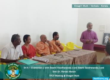 Team AMCT at Sivgiri Mutt Varkala (Trivandrum) for TPCV Meeting 2019