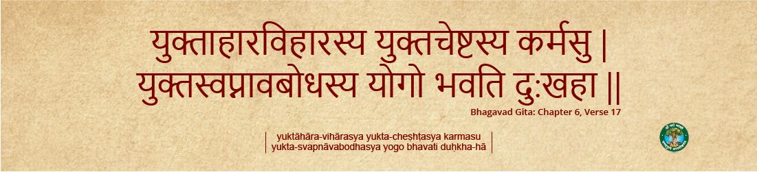 Arogyam Health Bhagavad Gita 6.17